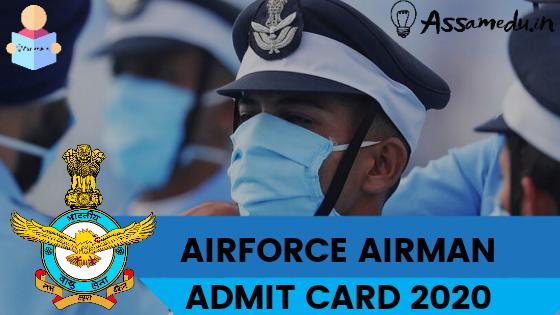 IAF Airmen Admit Card 2020