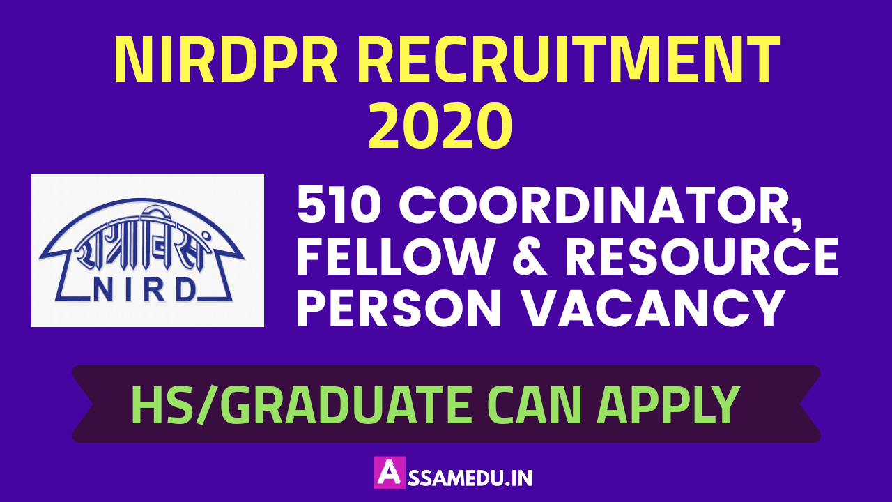 NIRDPR Recruitment 2020
