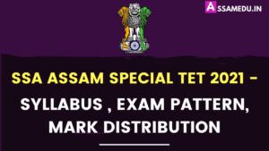 SSA Assam Special TET 2021 Syllabus