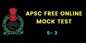 APSC Online mock test