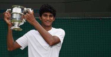 Samir Banerjee wins junior Wimbledon title