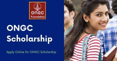 ONGC Foundation Scholarship 2021